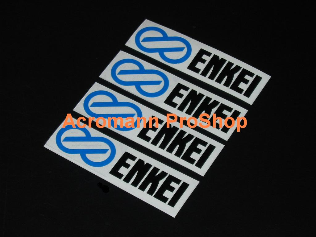 ENKEI 3inch Alloy Wheel Decal (Style#1) x 4 pcs
